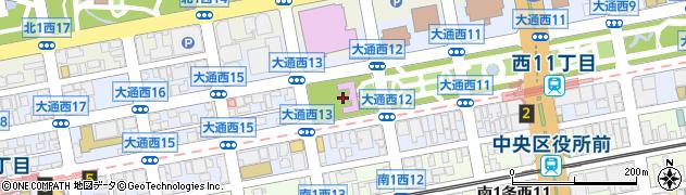 北海道札幌市中央区大通西13丁目周辺の地図