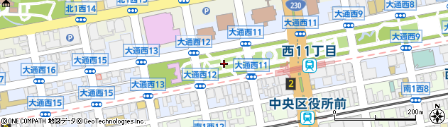 北海道札幌市中央区大通西12丁目周辺の地図