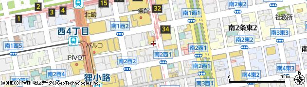 北海道札幌市中央区南1条西2丁目1-4周辺の地図