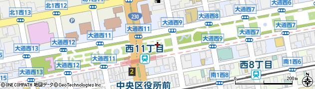 北海道札幌市中央区大通西10丁目周辺の地図