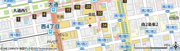 北海道札幌市中央区南1条西2丁目周辺の地図