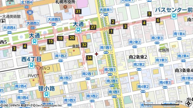 〒060-0061 北海道札幌市中央区南一条西5丁目の地図