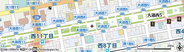 北海道札幌市中央区大通西8丁目周辺の地図
