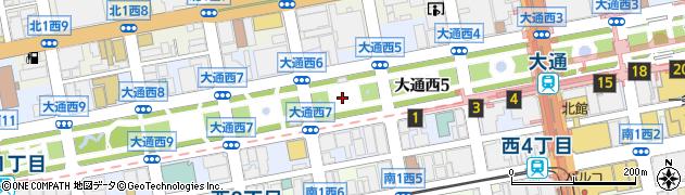 北海道札幌市中央区大通西6丁目周辺の地図