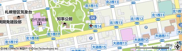 北海道札幌市中央区北1条西周辺の地図