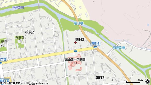 〒069-1513 北海道夕張郡栗山町朝日の地図