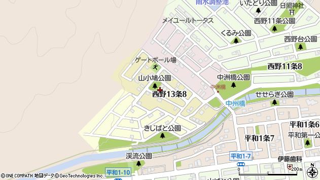 〒063-0043 北海道札幌市西区西野十三条の地図