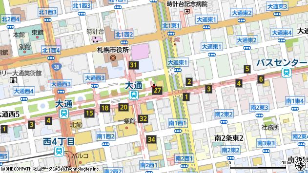 〒060-0042 北海道札幌市中央区大通西13丁目の地図