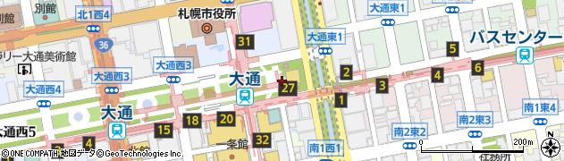 北海道札幌市中央区大通西1丁目周辺の地図