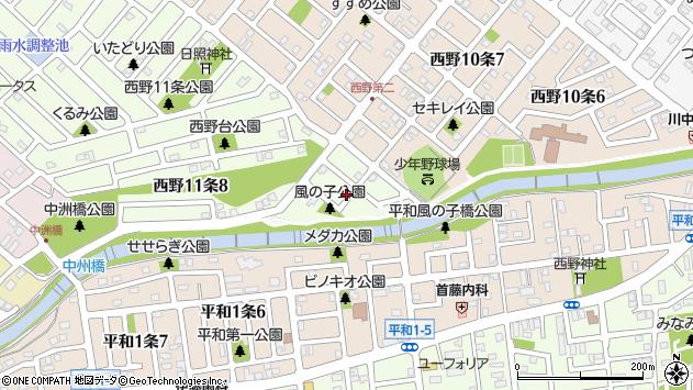 〒063-0041 北海道札幌市西区西野十一条の地図