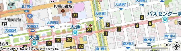 さっぽろテレビ塔周辺の地図