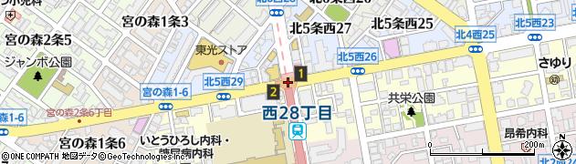 北4西28周辺の地図