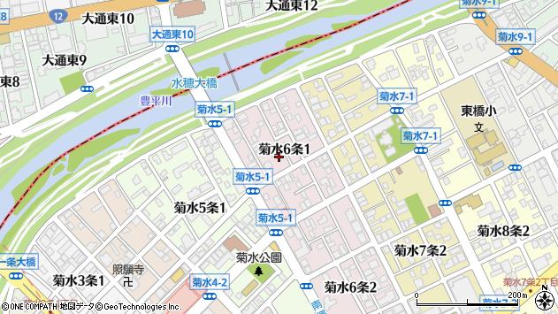 〒003-0806 北海道札幌市白石区菊水六条の地図