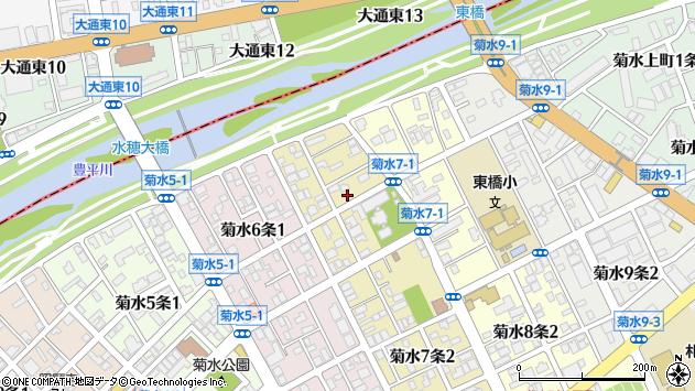 〒003-0807 北海道札幌市白石区菊水七条の地図