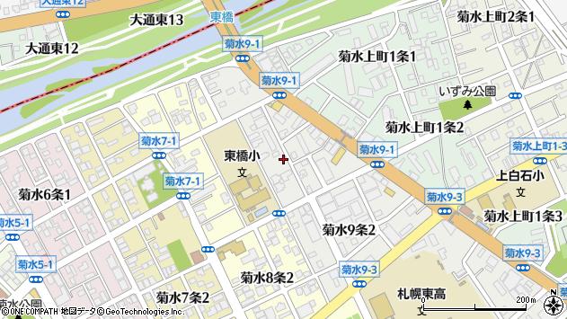 〒003-0809 北海道札幌市白石区菊水九条の地図
