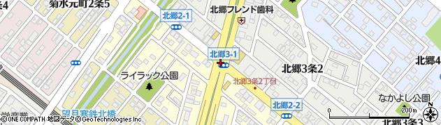 北郷2‐1周辺の地図
