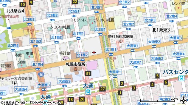 〒060-0001 北海道札幌市中央区北一条西7丁目の地図