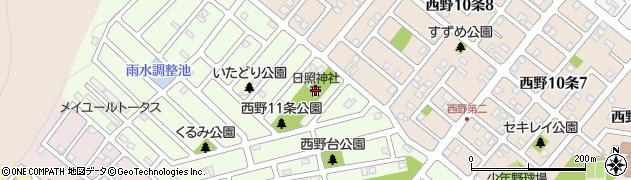 日照神社周辺の地図