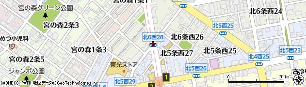 北6西27周辺の地図