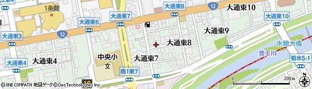 北海道札幌市中央区大通東周辺の地図