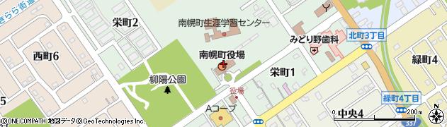 北海道空知郡南幌町周辺の地図