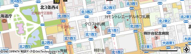 北海道札幌市中央区北2条西周辺の地図