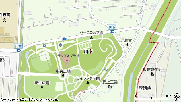 〒003-0869 北海道札幌市白石区川下の地図