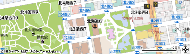 北海道周辺の地図