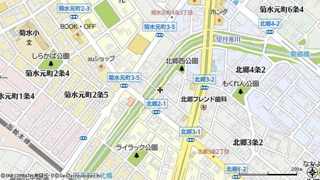 〒003-0833 北海道札幌市白石区北郷三条の地図