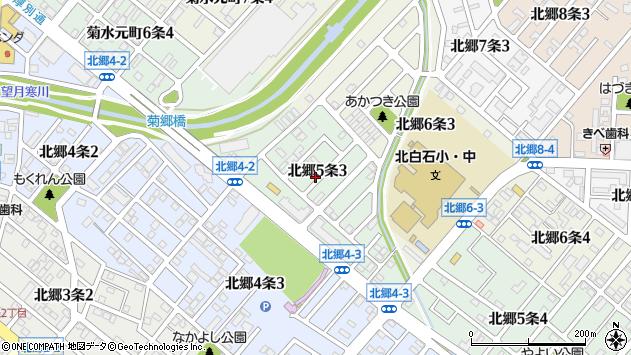 〒003-0835 北海道札幌市白石区北郷五条の地図