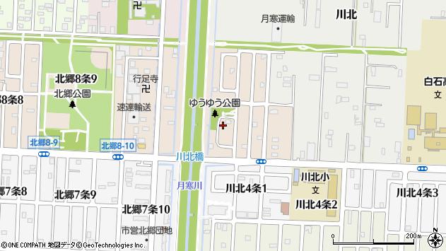 〒003-0855 北海道札幌市白石区川北五条の地図