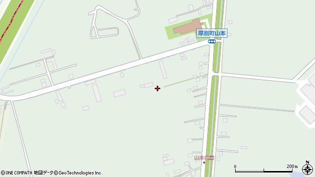 〒004-0069 北海道札幌市厚別区厚別町山本の地図