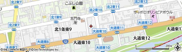 北海道札幌市中央区北1条東周辺の地図
