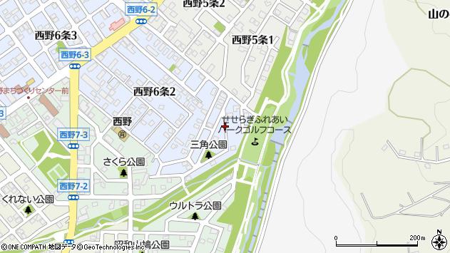 〒063-0036 北海道札幌市西区西野六条の地図
