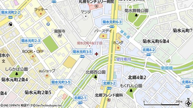 〒003-0834 北海道札幌市白石区北郷四条の地図