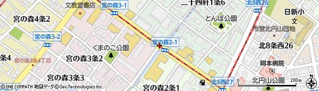 二十四軒1‐7周辺の地図