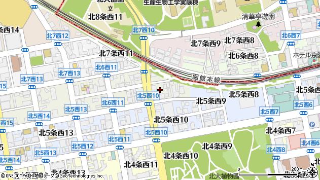 〒060-0006 北海道札幌市中央区北六条西24丁目の地図