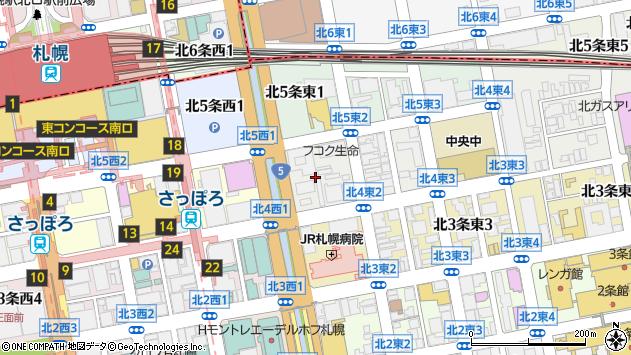 〒060-0034 北海道札幌市中央区北四条東2丁目の地図