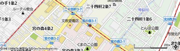 二十四軒2‐7周辺の地図