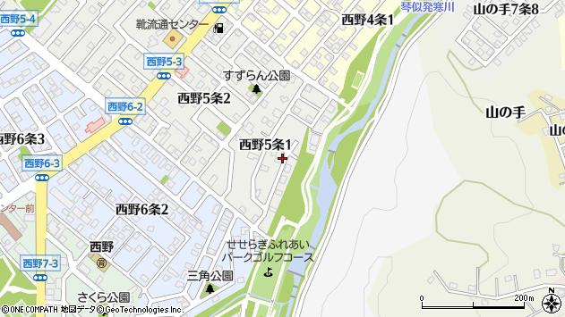 〒063-0035 北海道札幌市西区西野五条の地図