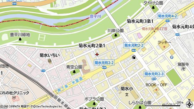 〒003-0822 北海道札幌市白石区菊水元町二条の地図