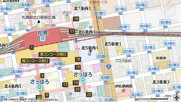 〒060-0005 北海道札幌市中央区北五条西19丁目の地図