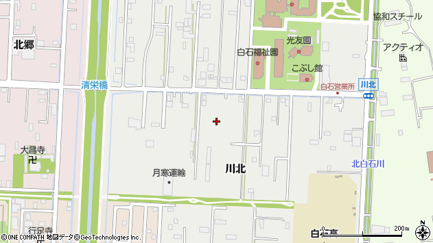 〒003-0859 北海道札幌市白石区川北の地図