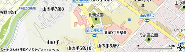 山の手5‐10周辺の地図