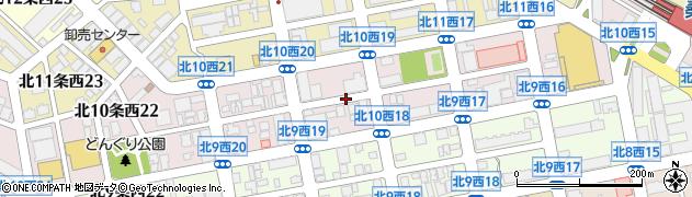 北海道札幌市中央区北10条西周辺の地図