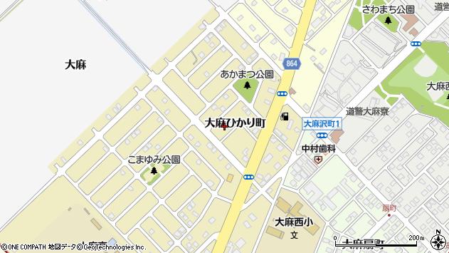 〒069-0847 北海道江別市大麻ひかり町の地図