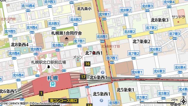 〒060-0807 北海道札幌市北区北七条西の地図