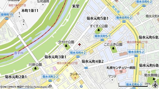 〒003-0824 北海道札幌市白石区菊水元町四条の地図