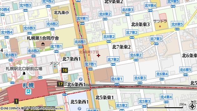 〒060-0907 北海道札幌市東区北七条東3丁目の地図