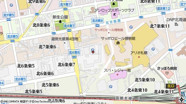 〒065-0006 北海道札幌市東区北六条東8丁目の地図